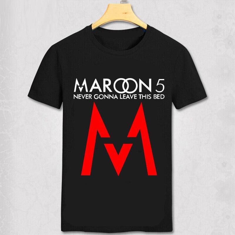 New Summer Style Maroon 5 Men T Shirt Maroon5 Rock Music Band Shirt Hip Hop M 5 Short Cotton Tee Adam Levine Sugar Sweet Love