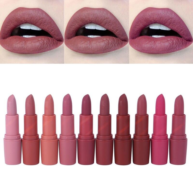 Women Makeup Lips Sexy Matte Lipstick Waterproof Velvet Batom Pigments Moisturizer Lipstick Matte Lips maquiagem New 18 5