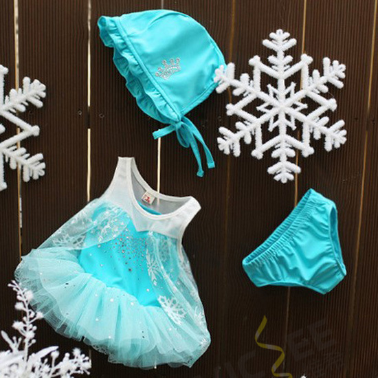 Elsa Frozen Swimwear 3pcs/set Kids Bikini Child Disfraces Girl Swimsuit Children's Swim Wear - VICSEE International Apparel Ltd store
