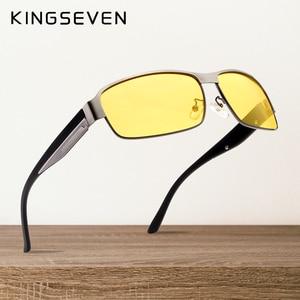 Image 1 - KINGSEVEN Tầm Nhìn Ban Đêm Kính Mát Nam Goggles Vàng Kính Lái Xe Người Đàn Ông Phân Cực kính Mặt Trời cho Đêm gafas de sol