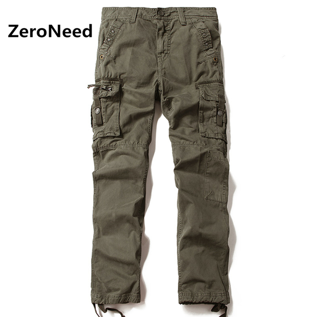 Mens Cargo Pants 2017 Multi Pocket Outdoors Sweatpants Cargo Pant Men Trousers Casual Pants Men Elastic Cotton Long Trousers 73