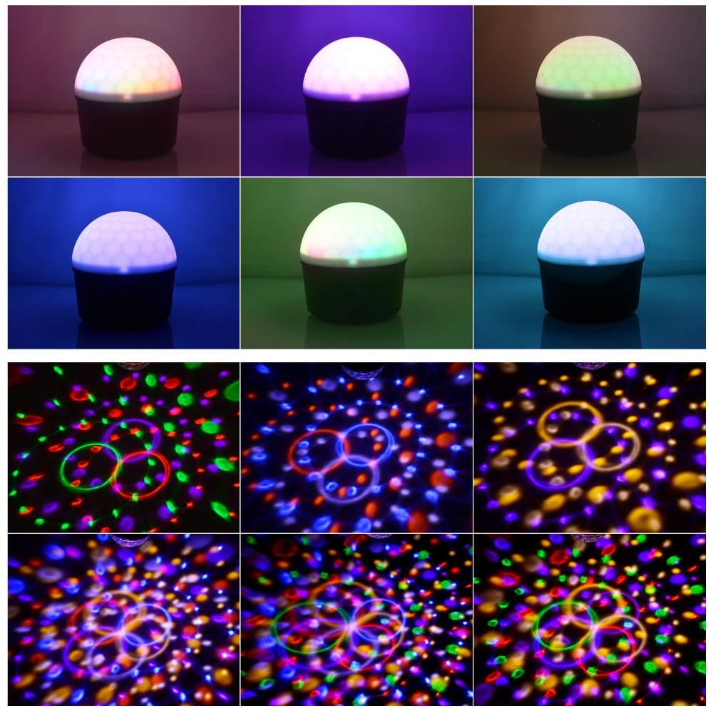 Bluetooth MP3 9colors night light 9colors party light for Christmas decoration disco stage all entertaiment Remote in Holiday Lighting from Lights Lighting