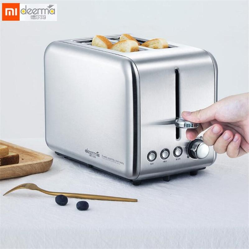 Xiaomi Deerma Electric Bread Toaster Stainless steel household baking bread maker breakfast machine Kitchen Toast sandwich grill Тостер