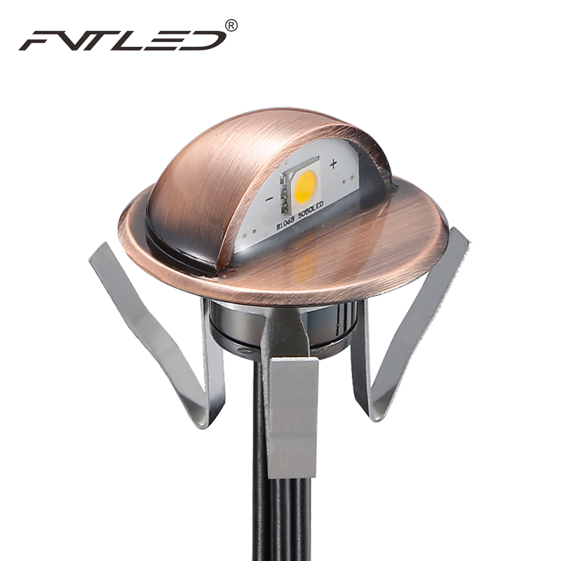 IP65 Half-moon LED Step Lights Downwards Lamp Retro Style Body 0.4w LED Garden Path Patio Lightening Small Size Outdoor Lighting