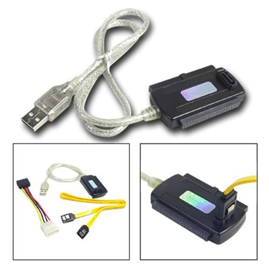 Marsnaska USB 2.0 to IDE SATA 5.25 S-ATA/2.5/3.5 Hard Drive HD HDD Adapter Cable Converter 480Mb/s Speed high quality high speed 3 5 ide to sata ide ata 100 133 hdd adapter converter adapter with sata cable power cable for mac pc