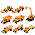 8 Pçs/set Em Miniatura De Carro Miniatura 1: 64 Carro Trator Do Brinquedo Conjunto modelo de Caminhão de Brinquedo Modelo de Carro de Brinquedo Trator Conjunto Para Crianças A155