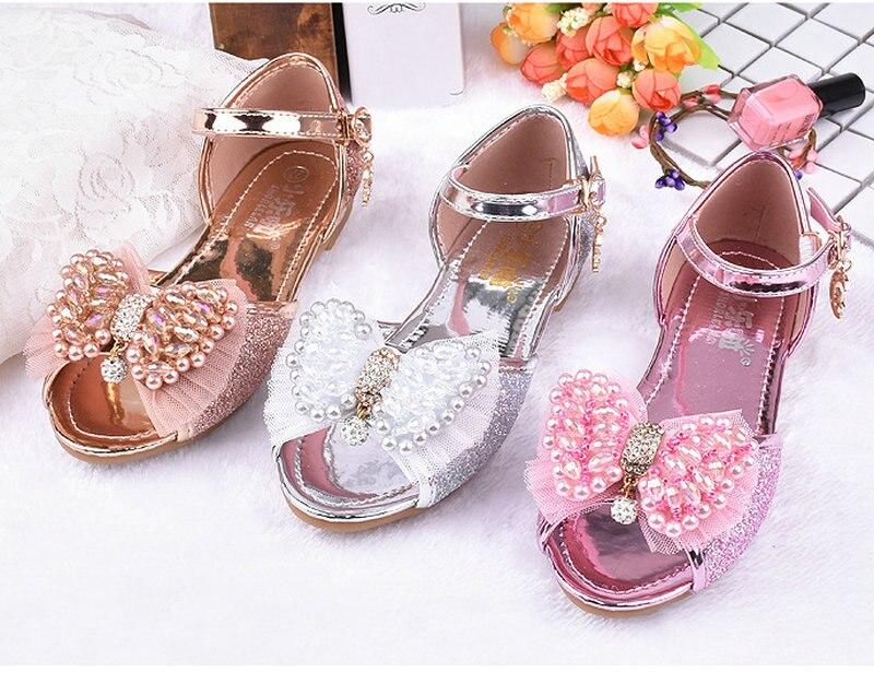 Heet verkoop zomer kinderen meisjes prinses sandalen bowtie partij - Kinderschoenen - Foto 1