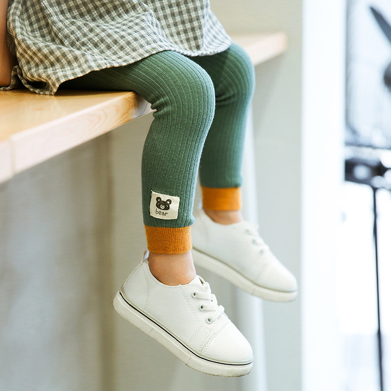 Children  Leggings Made By Pure  Cotton  Warm And Comfortable Autumn Winter Soft Girl Trousers Leggings  For Girls Age 3-9T