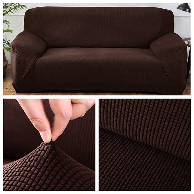 Fundas para sofá a cuadros, cubierta para mueble universal europea de tela polar, para sala de estar, cubre desde las esquinas seccionales