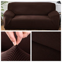 Polar Fleece Fabric Universal Sofa Cover Euro Sofa Covers For Living Room Stretch Sectional Corner Sofa Cover Plaids On The Sofa