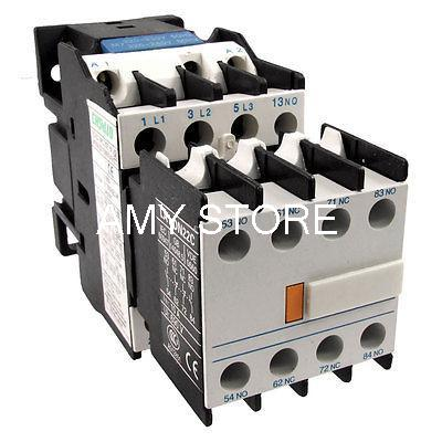 220 Volts Coil LC1D18 AC Contactor LA1DN22 2NO 2NC Auxiliary Contact Block Combo dhl ems 10 lots contact block 2nc with collar replaces tele zb2bz104 c4 d9