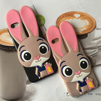 Cover for Wiko U Feel Prime Soft TPU Rabbit Judy Case for Wiko U Feel Prime 5.0 inch Silicone Phone Protective Back Coque Fundas
