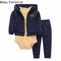 Baby Favorite Newborn Baby Girl Clothes Sets 3 Pcs Lot Warm Spring New Arrival Boy Clothes