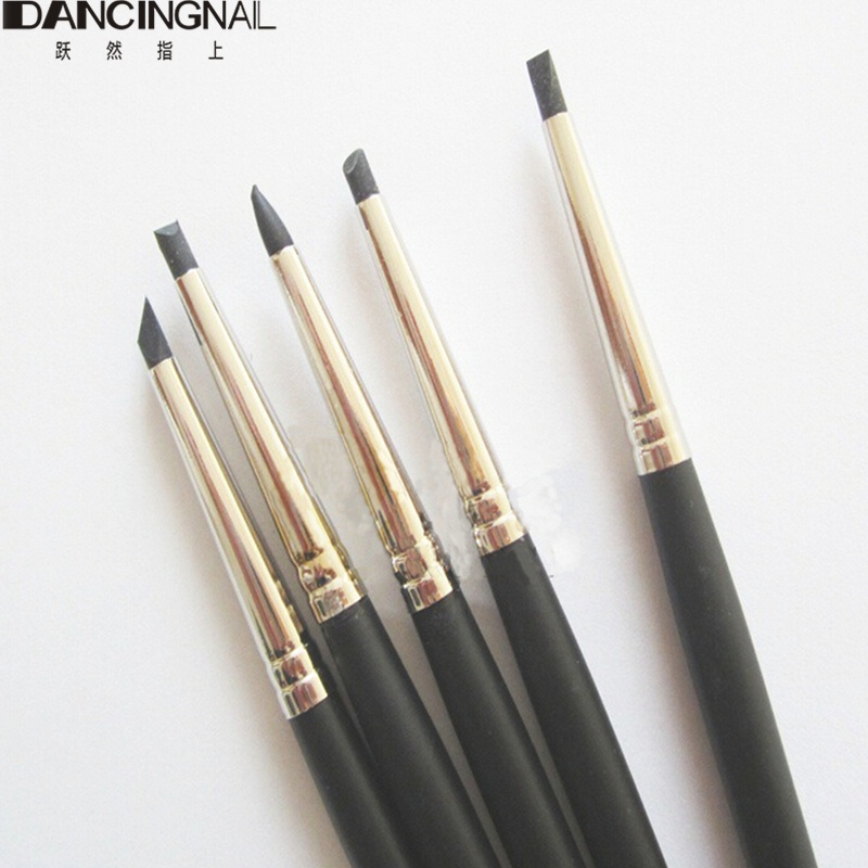 5 Pcs Nail Art Pen Brushes Soft Silicone Carving Craft Supplies Pottery Sculpture Uv Gel Building Clay Pencil Diy Tools In Dotting From Beauty