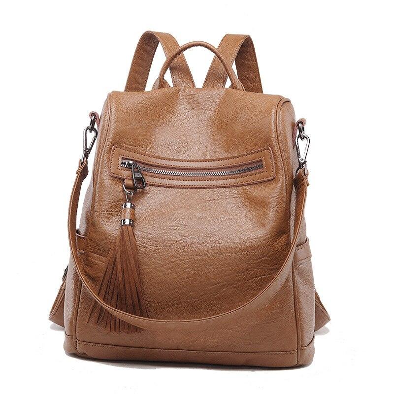 Al8108 nouveau sac en cuir de mode femmes grande capacité sac à dos en cuir véritable femmes boutique sac à dos multifonctionnel