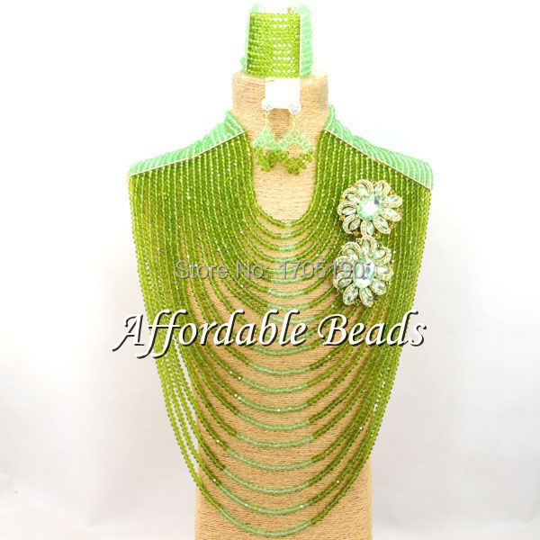 Long Style African Beaded Jewelry Handmade Costume African Jewelry Sets Free Shipping ABW089 african symbolism