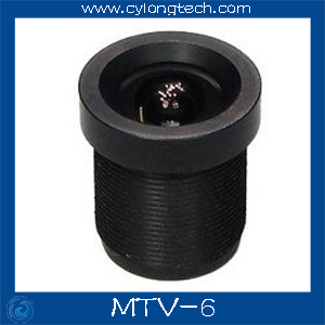 1 / 3`` 6mm 51 stupňový IR deskový CCTV objektiv pro bezpečnostní kameru.MTV-6