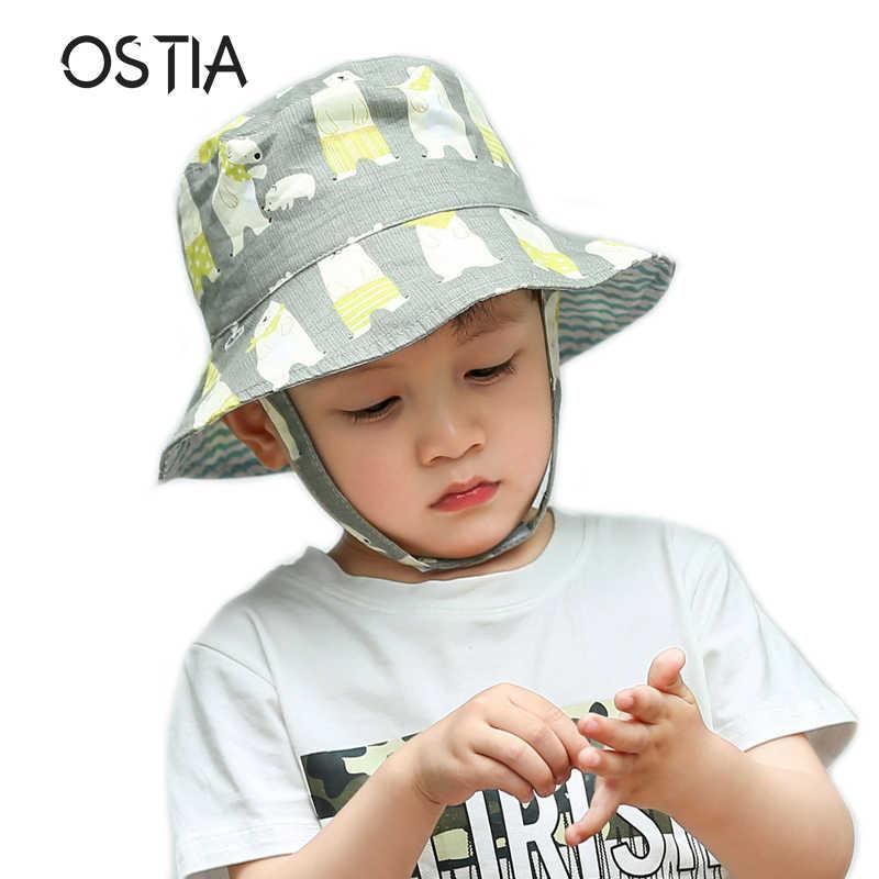 242c527a1b0 2018 Cartoon Kids Bucket hats Baby Summer Hat Cotton Children Boys Girls  Bucket Sun Hat Toddler