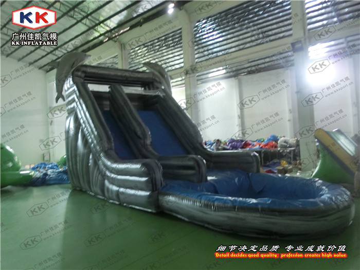 Dolphins Playground Inflatable Water Slide Personal Use or Rental