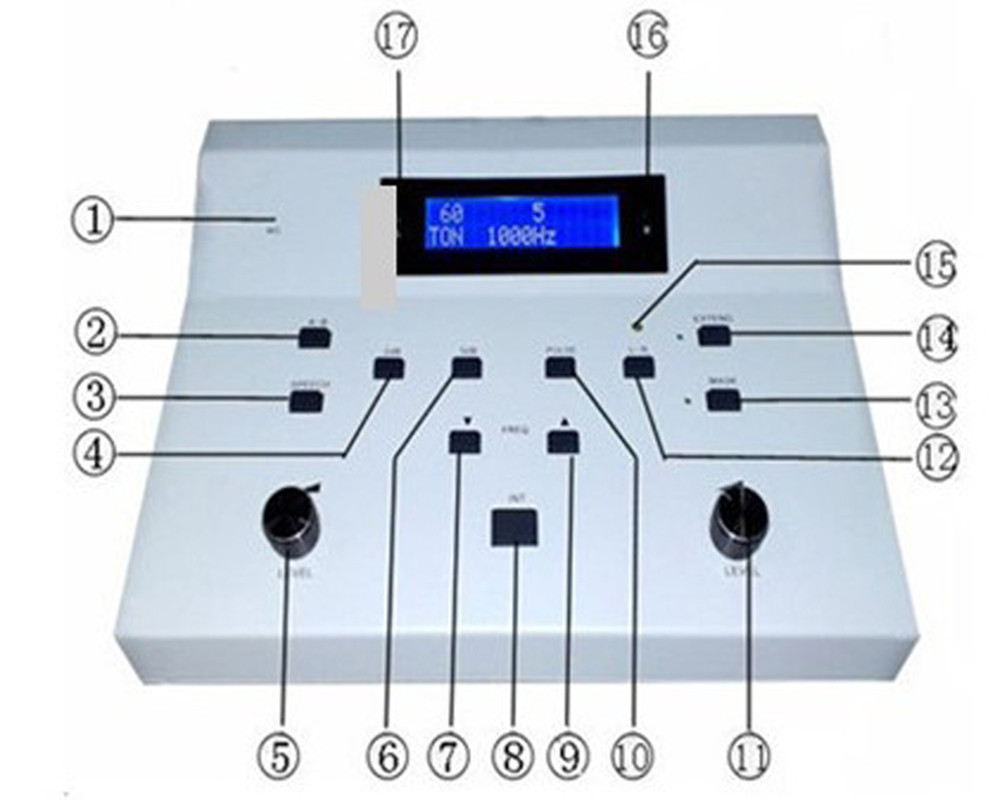 High Quality Audiometry Testing Medical used audiometer Manufacturer Professional Clinical Diagnostic Hearing Test Machine AD 3A