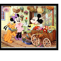 Mickey Mouse 40x30cm Diamond Embroidery 3D Full Square For Crafts Diamond Mosaic Cartoon Of Rhinestones Wedding