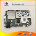 Abierto original de trabajo para sony xperia m2 s50h d2303 mainboard motherboard placa lógica con volver cámara trasera envío gratis