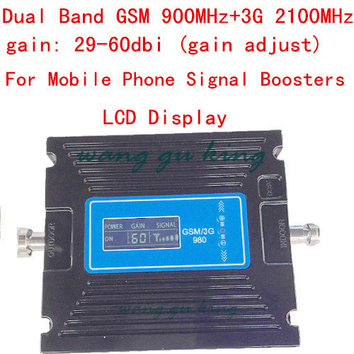 Newest gain adjust Gsm 2G 3G LCD Display Signal booster ! GSM 900 GSM 2100 Mobile Phone Signal Booster Amplifier 3G GSM RepeaterNewest gain adjust Gsm 2G 3G LCD Display Signal booster ! GSM 900 GSM 2100 Mobile Phone Signal Booster Amplifier 3G GSM Repeater
