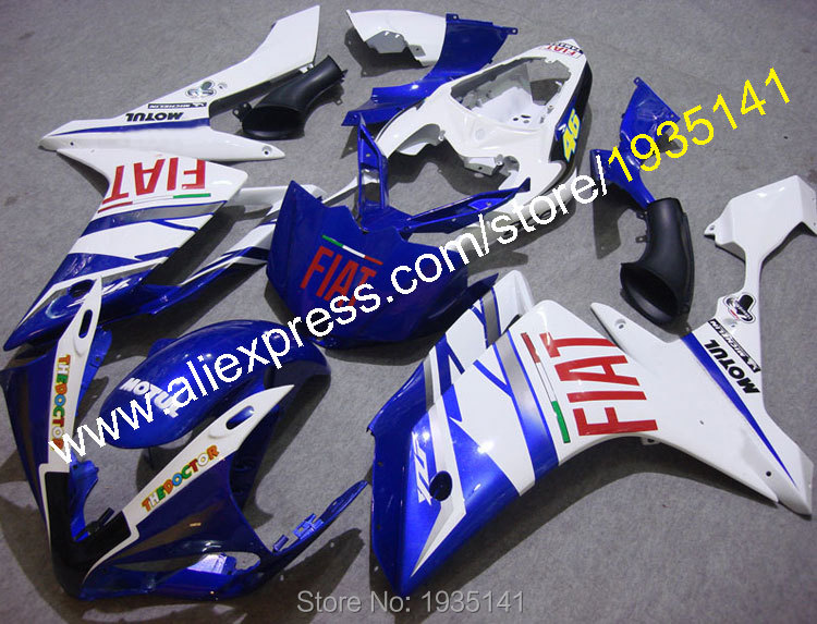 Hot Sales,Motorbike fairing For Yamaha YZF R1 2007 2008 YZF-R1 07 08 YZF1000 blue white black body cowling (Injection molding) велосипед merida ride disc adventure cf 2017