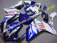 Hot Sales,Motorbike fairing For Yamaha YZF R1 2007 2008 YZF R1 07 08 YZF1000 blue white black body cowling (Injection molding)
