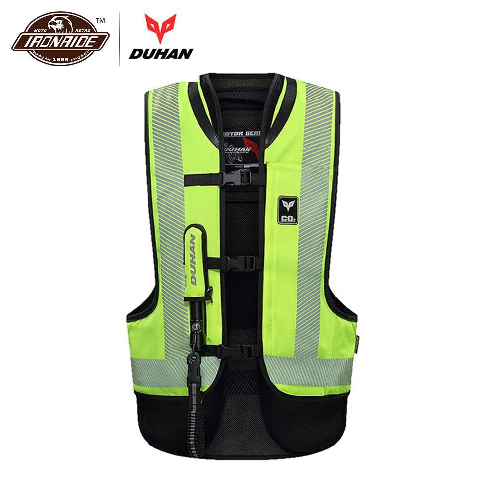 DUHAN Moto Air-sac Gilet veste de Moto Avancée Air Sac Système équipement de protection Réfléchissante Moto Airbag Moto Gilet