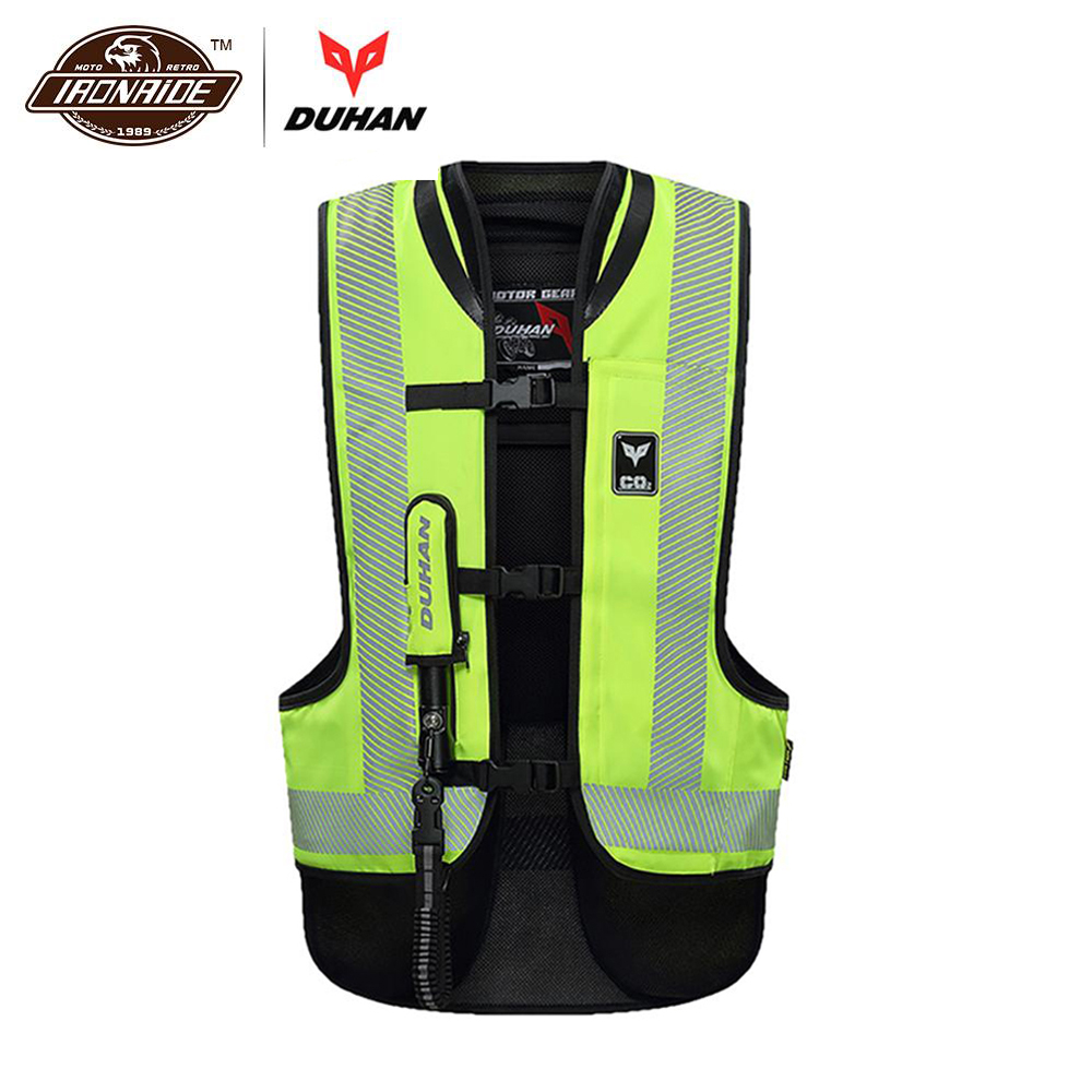 Dashing Duhan Motorcycle Air-bag Vest Motorcycle Vest Advanced Air Bag System Protective Gear Reflective Motorbike Airbag Moto Vest