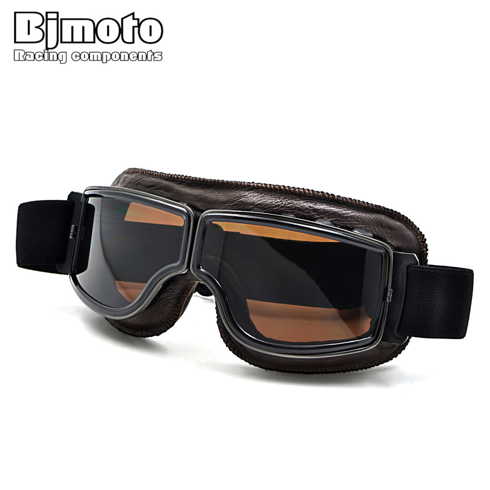 GT-011T 2017 NEW WWII Vintage Harley style motorcycle gafas motocross moto goggles Scooter Goggle Glasses Aviator Pilot Cruiser