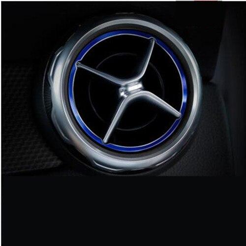 5 pcs Air Outlet Sticker Instrument Panel Trim Decoration for Mercedes Benz A B GLA CLA Class W176 W246 X156 Car Styling