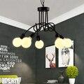 Потолочные светильники американского дерева  скандинавские черные кантри потолочные светильники для дома  внутреннего освещения  фойе  ла...