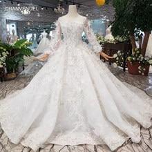 420160b54a0ce Robes de mariée spéciales avec plume dos transparent robe de mariée à  bouton fait main pour fille vestido de noiva princesa HTL3.