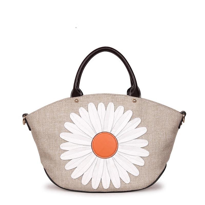 45x27 CM 2017 printemps nouveau sac à bandoulière serviette Messenger sacs toile paille sac peau de vache femme sac à main sac A2902