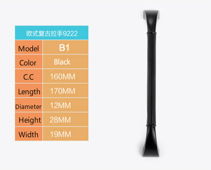 10Pcs Modern High-Grade Black Zinc Alloy handle drawer handle furniture handle cabinet handl( C:C: 160MM L: 170MM ) chrome plated modern handle c c 192mm l 218mm h 23mm drawers cabinets