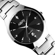 2017 Luxury Men Single Calendar Quartz Stainless Steel Date Wrist Watches For Students Boys Men Watch Wood Style Watch Men