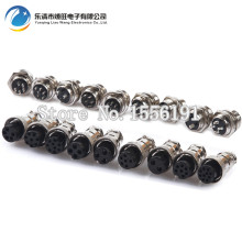 5 sets/kit 10 PIN 16mm GX16-10 Screw Aviation Connector Plug The aviation plug Cable connector Regular and socket