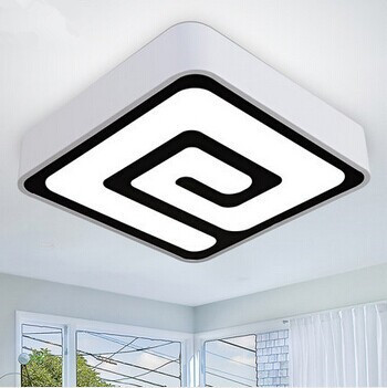 Square Modern LED Ceiling Light With 1 Light For Living Room Lamp Fixtures,Luminaria Lustres De Sala Teto,Bulb Included