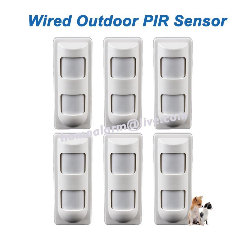 bilder für 6 teile/los wired freien wasserdichte dual pir + mikrowelle komplexe motion detektor digitalen alarm pir sensor, Dhl-freies Verschiffen