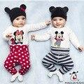 Hot Moda Bebê Meninos Meninas Macacão Infantil Bonito Dos Desenhos Animados Macacões Da Criança Animais Conjuntos de Roupas Bebê Recém-nascido Roupas + Chapéu + calças