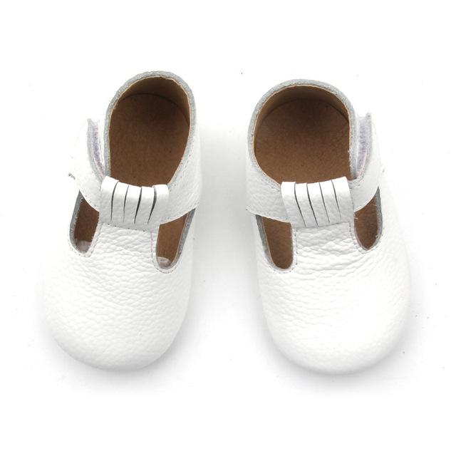 60 par/lote Cuero Genuino Hecha A Mano Bebé Mocasines Zapatos Mary janes de los bebés visten Zapatos Recién Nacido primer caminante Zapatos del niño