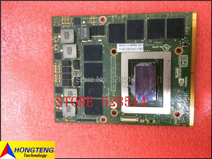 N12E-GTX2-A1 GTX 580M GTX580M 2GB DDR5 VGA Video Card for Dell Alienware M15x M17x M18X M6500 fully tested & working perfect