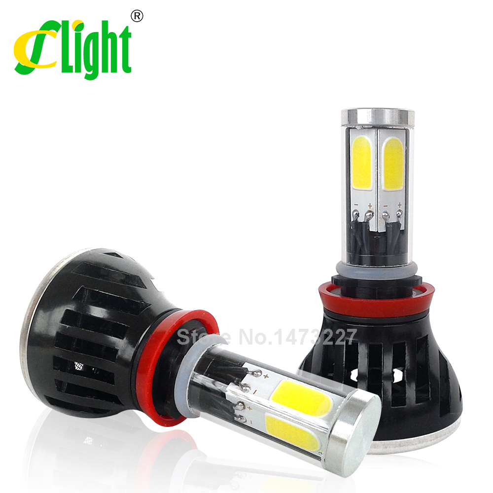 H11 Led H8 H9 Cob Car Headlight Fog DRL font b Light b font Head Driving