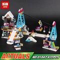 In stock Lepin 01042 New 632Pcs Girls Series The 41324 Snow Resort Ski Lift Set Building Blocks Bricks Toys For Kids Gifts Model