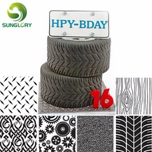 6PCS Manly Texture Sheet Set Tyre Sugar Craft Decoration Mat For Cookie Cupcake Fondant Cake Mold Baking Tools Cakes