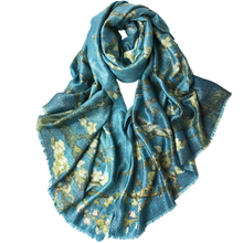 classic printed pure cashmere clips bright silk women intellectual elegant big scarf shawl pashmina 110x200cm