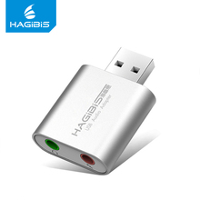 Hagibis USB External Sound Card 3.5mm Usb Adapter Converter Audio Mic Headphone Microphone for PC Laptop
