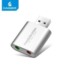 Hagibis USB External Sound Card 3.5mm Usb Adapter Converter Audio Mic Sound Card USB Adapter Headphone Microphone for PC Laptop цена 2017